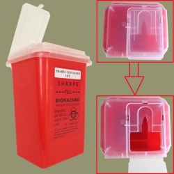 Red Sharps Container 1 Qt – For Tattoo Waste