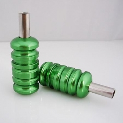 Green Aluminum Alloy tattoo grip with back stem 22mm