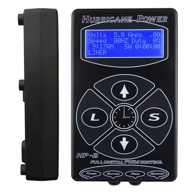 HP-2 Hurricane Tattoo Power Supply Black