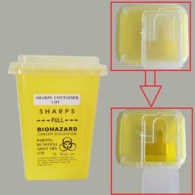Yellow Sharps Container 1 Qt – For Tattoo Waste