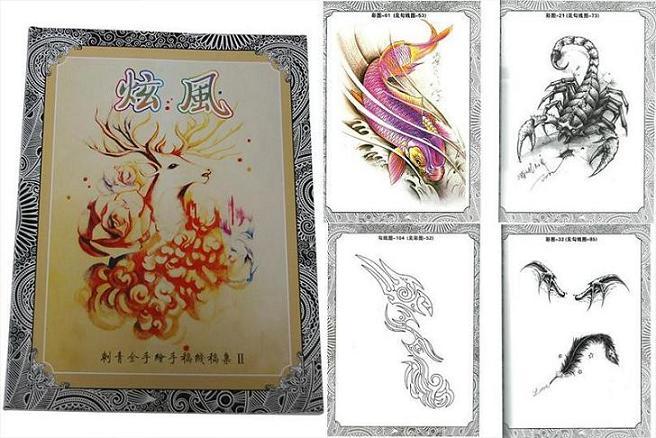 airbrush tattoo stencil book