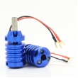 Aluminum Alloy Grips With Aid Light 28mm- Blue