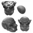Premium Cyan Skull Tattoo Ink Cap Cup